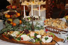 Cheese plate on the buffet